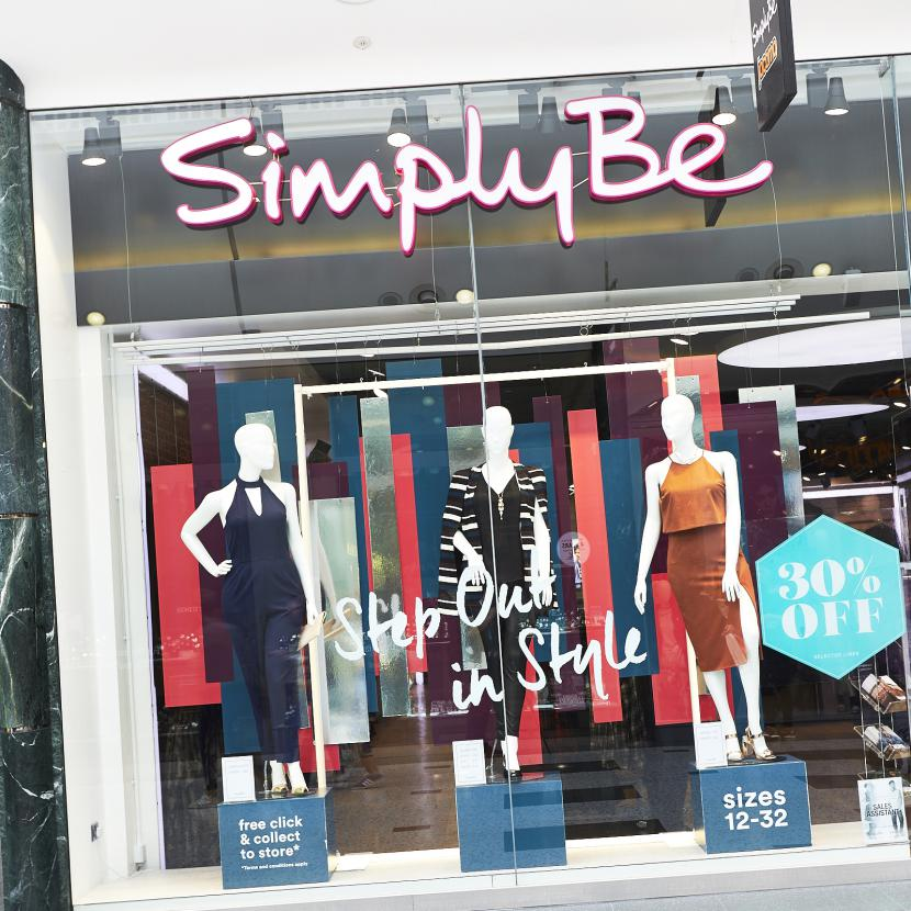Simply Be Shop Front