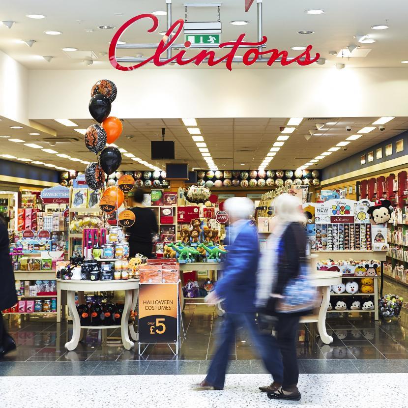 Clintons shop front