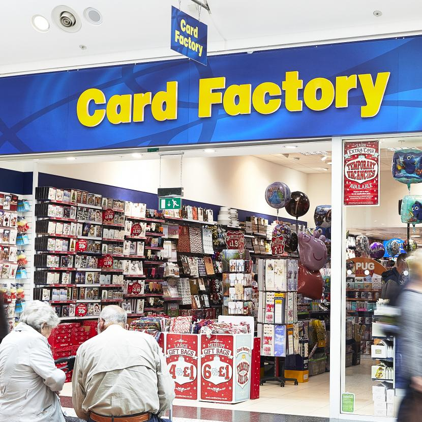 Card Factory Shop Front
