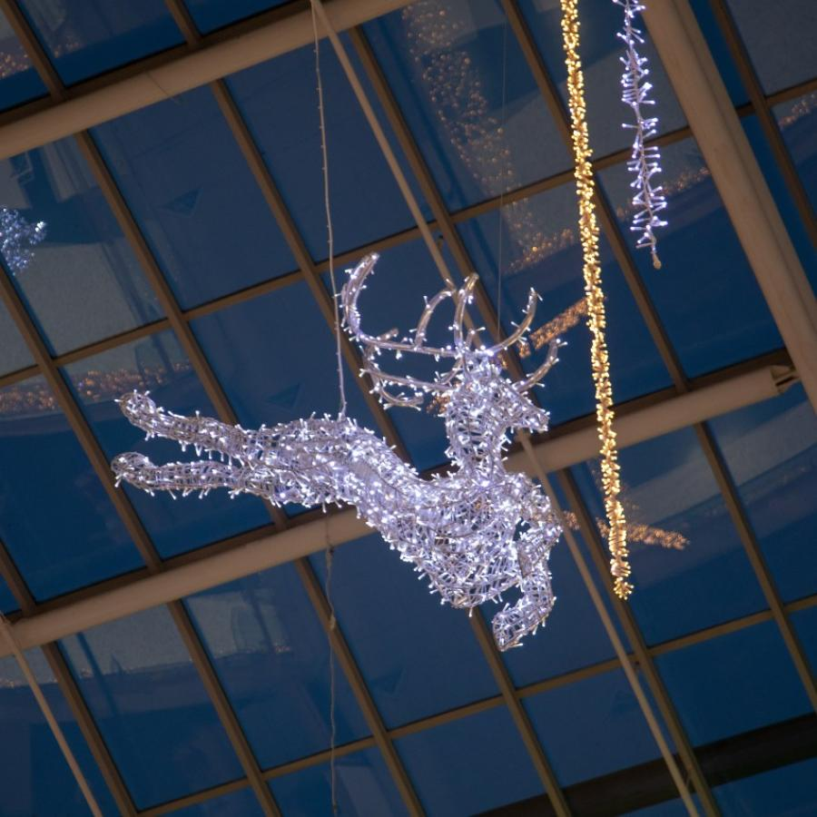 Christmas decorations at White Rose – Reindeer