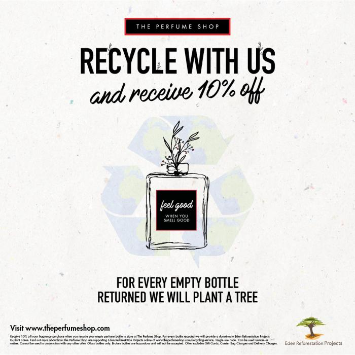 Recyle with The Perfume Shop