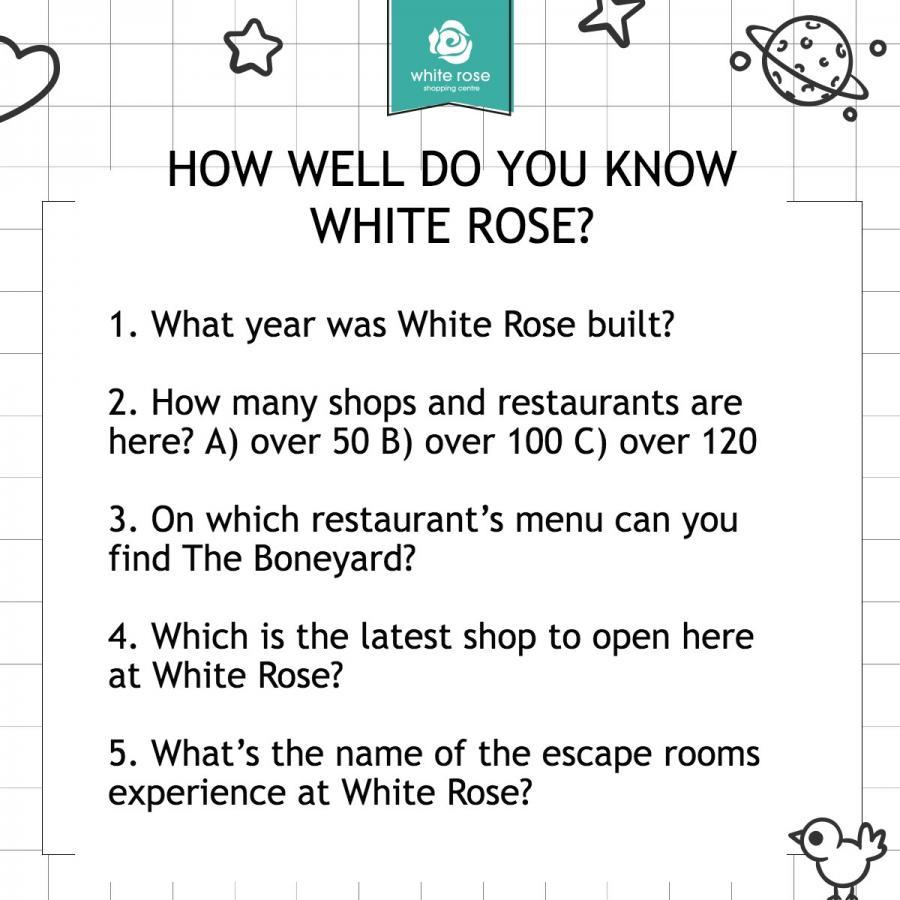White Rose Leeds Quiz