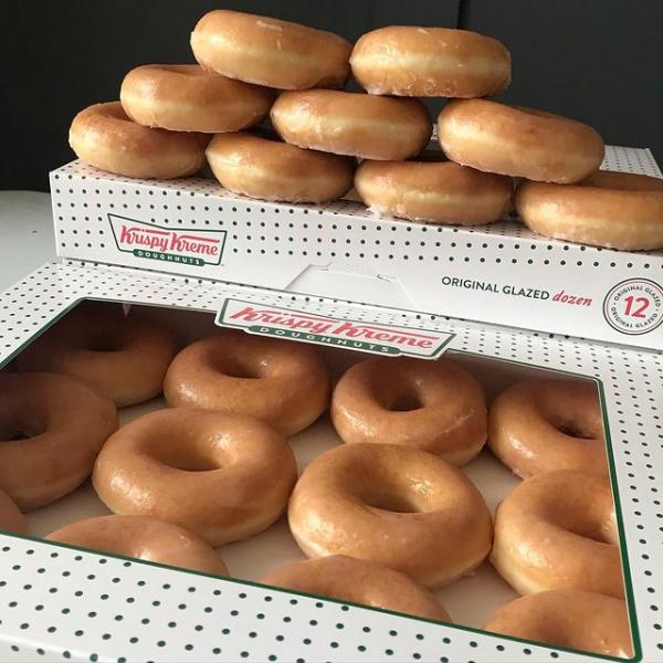 Half-price dozens at Krispy Kreme