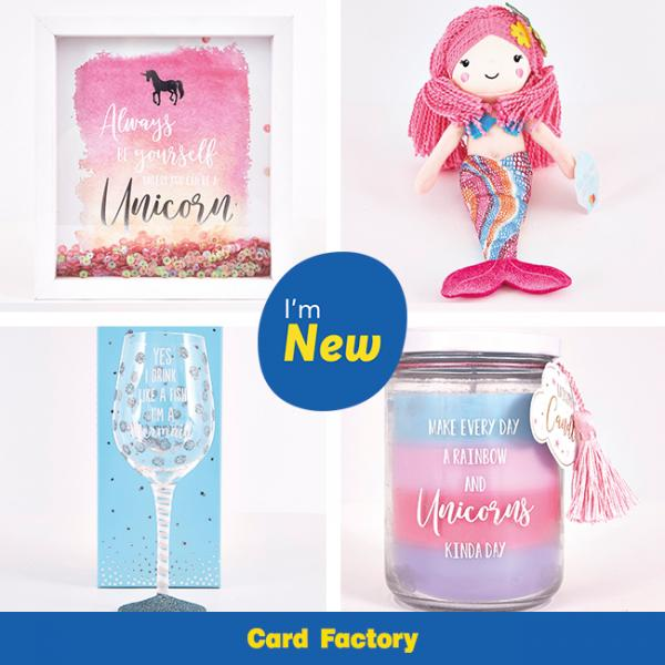 Mermaids unicorns at card factory white rose shopping centre negle Images